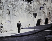 spanish man in street – color