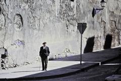 spanish man in street – color